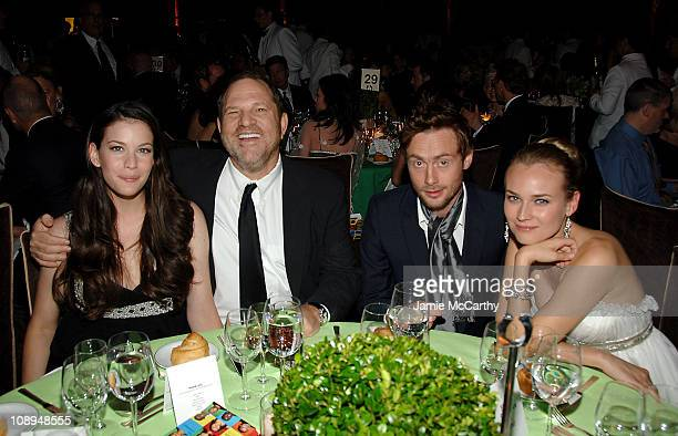 Liv Tyler, Harvey Weinstein, Royston Langdon and Diane Keuger