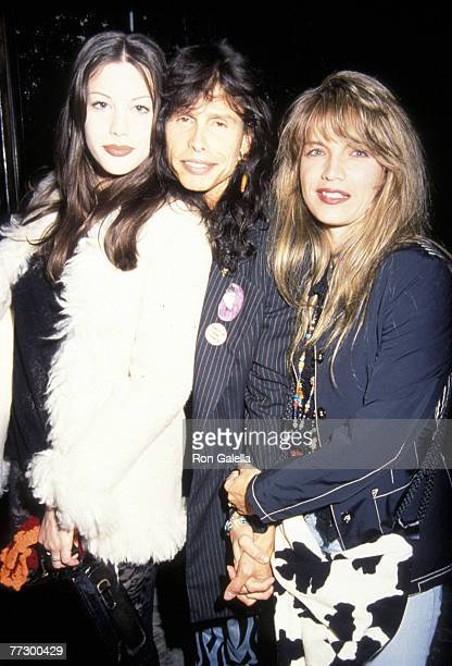 Liv Tyler her father Steven Tyler and wife Teresa Barrick