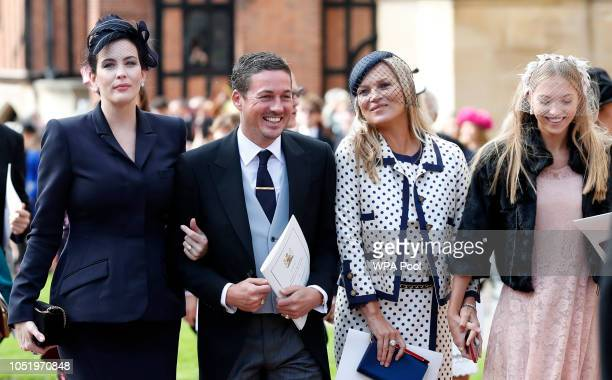 Liv Tyler her husband Dave Gardner Kate Moss and her daughter Lila Moss attend the wedding of Princess Eugenie of York to Jack Brooksbank at St...