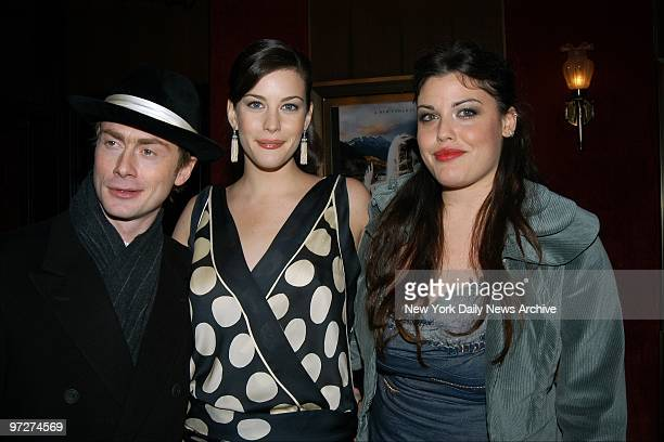 Liv Tyler is joined by her fianc?, Spacehog's Royston Langdon, and half-sister Mia Tyler at the Ziegfeld Theater for the world premiere of the movie...