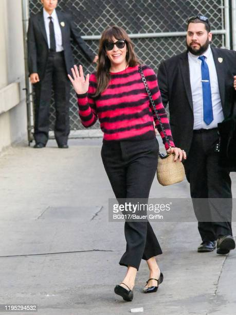 Liv Tyler is seen arriving at 'Jimmy Kimmel Live' TV show on January 21 2020 in Los Angeles California