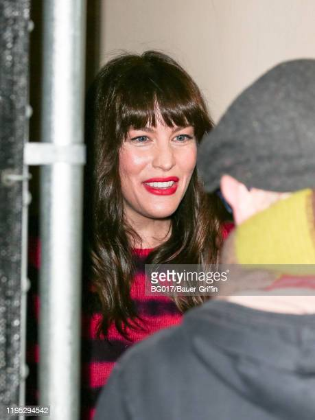 Liv Tyler is seen arriving at 'Jimmy Kimmel Live' TV show on January 21, 2020 in Los Angeles, California.