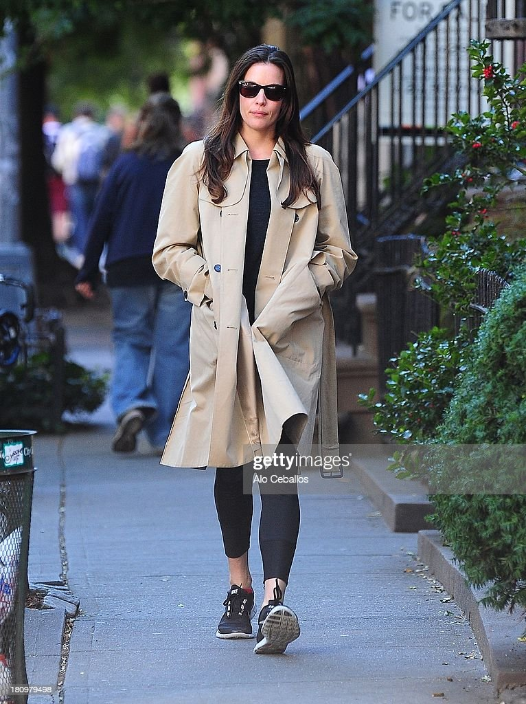Liv Tyler is seen in the West Village on September 18, 2013 in New York City.