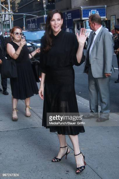 Liv Tyler is seen on July 12 2018 in New York City