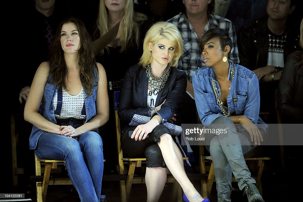 Liv Tyler, Kelly Osbourne and Kelly Rowland attend the G-Star Spring 2011 fashion show during Mercedes-Benz Fashion Week at Pier 94 on September 14, 2010 in New York City.