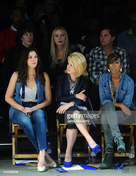 Liv Tyler Kelly Osbourne and Kelly Rowland Jim Wallerstein and Bebe Buell attend the GStar RAW Spring/Summer 2011 fashion show at Pier 94 on...