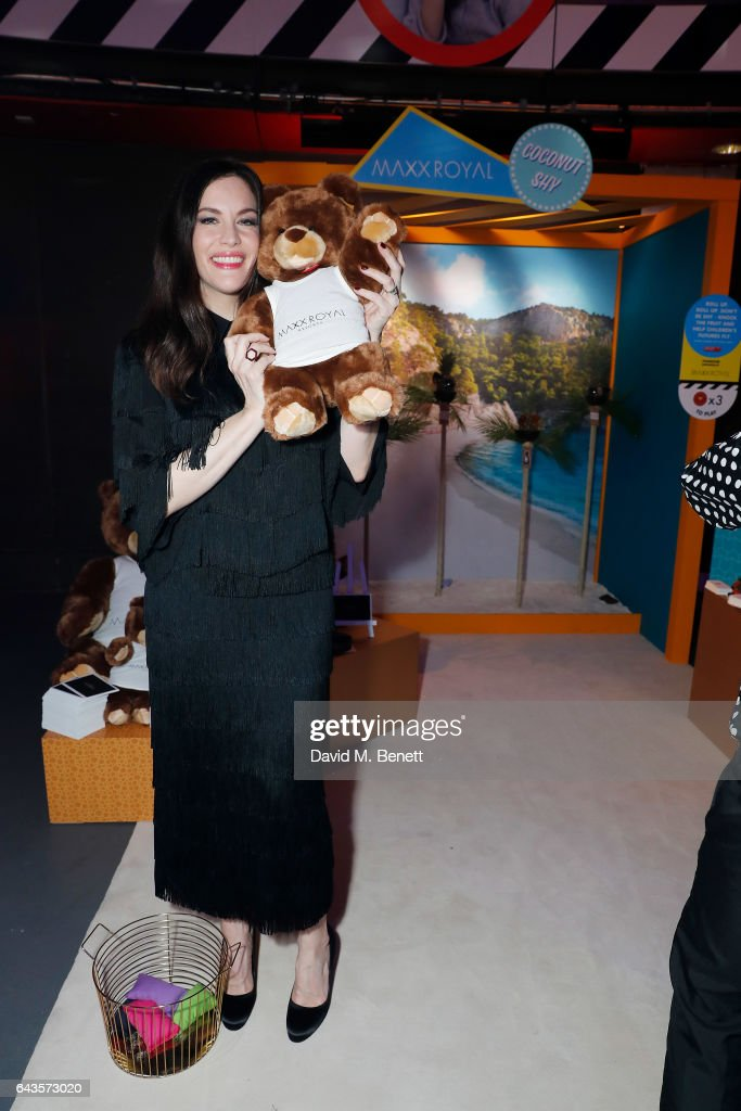 Liv Tyler plays the coconut shy at LondonÕs Fabulous Fund Fair hosted by Natalia Vodianova and Karlie Kloss in support of The Naked Heart Foundation on February 21, 2017 at The Roundhouse in London, England.