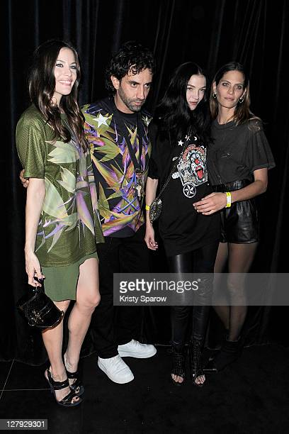 Liv Tyler Riccardo Tisci Mariacarla Boscono and Frankie Rayder attend the Givenchy Aftershow Party at L'Arc on October 2 2011 in Paris France