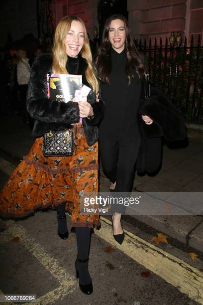 Liv Tyler seen attending Goldie's Love In For The Kids charity fundraiser at Annabel's on November 12 2018 in London England