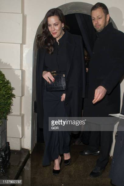 Liv Tyler seen attending the Dunhill PreBafta dinner at the Dunhill club on February 06 2019 in London England