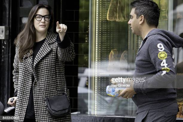Liv Tyler seen giving directions in Primrose Hill on September 10 2017 in London England