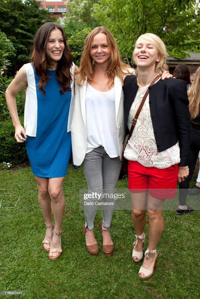 Liv Tyler, Stella McCartney, and Naomi Watts attend the Stella McCartney Spring 2012 Presentation at a Private Location on June 13, 2011 in New York City.