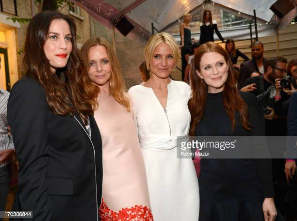 Liv Tyler Stella McCartney Cameron Diaz and Julianne Moore attend the Stella McCartney Spring 2014 Collection Presentation at West 10th Street on...