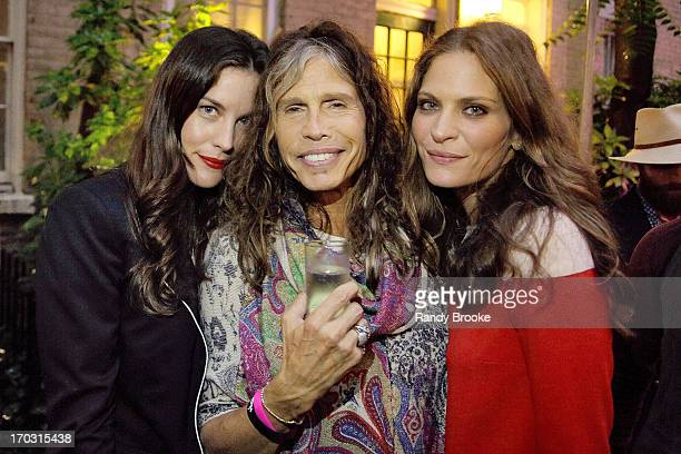 Liv Tyler Steven Tyler and Frankie Rayder at West 10th Street on June 10 2013 in New York City