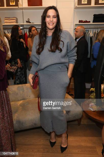 Liv Tyler toasts goops's 10th anniversary at goop London popup on October 8 2018 in London England