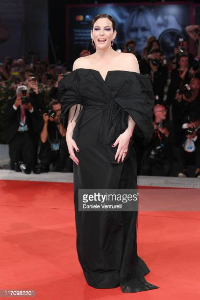 Liv Tyler walks the red carpet ahead of the Ad Astra screening during during the 76th Venice Film Festival at Sala Grande on August 29 2019 in Venice...