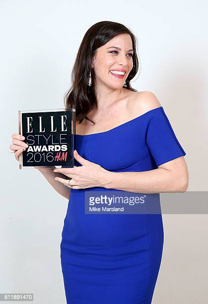 Liv Tyler winner of the TV Actress of the Year award poses in the winners room at The Elle Style Awards 2016 on February 23 2016 in London England