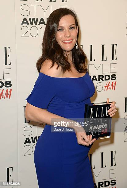 Liv Tyler winner of TV actress of the year poses in the winners room at The Elle Style Awards 2016 on February 23 2016 in London England