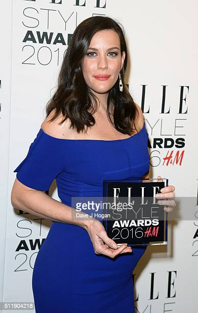 Liv Tyler winner of TV Actress of The Year poses in the winners room at The Elle Style Awards 2016 at tate britain on February 23 2016 in London...