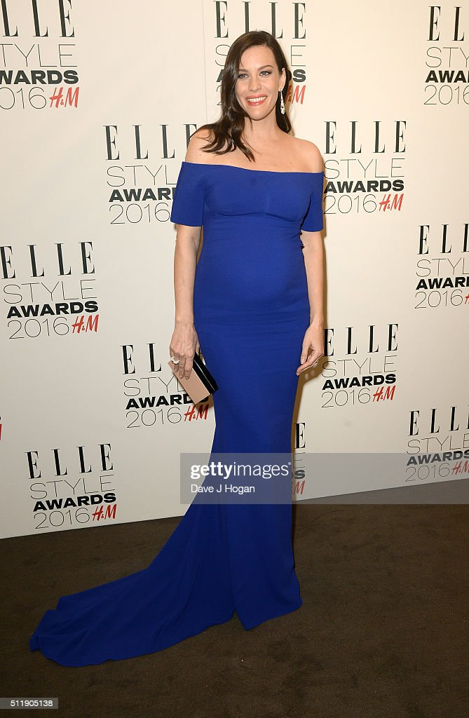 Liv Tyler, winner of TV actress of the year, poses in the winners room at The Elle Style Awards 2016 at tate britain on February 23, 2016 in London, England.