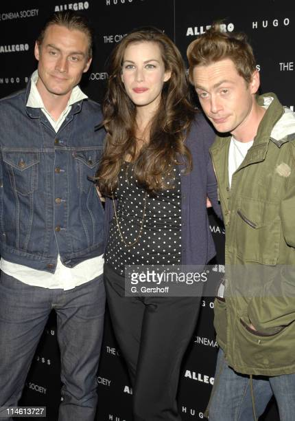 Liv Tyler with Antony Langdon and Royston Langdon of Spacehog