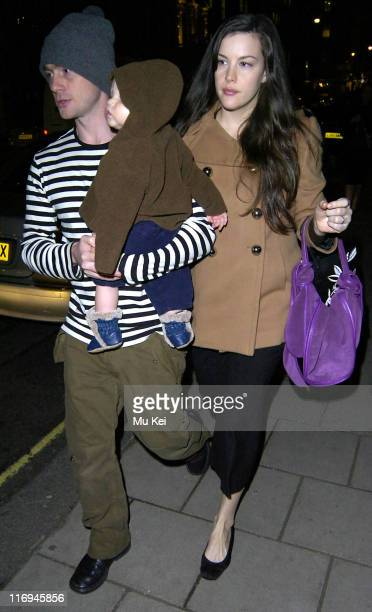 Liv Tyler with husband Royston Langdon and son Milo *Exclusive Coverage*