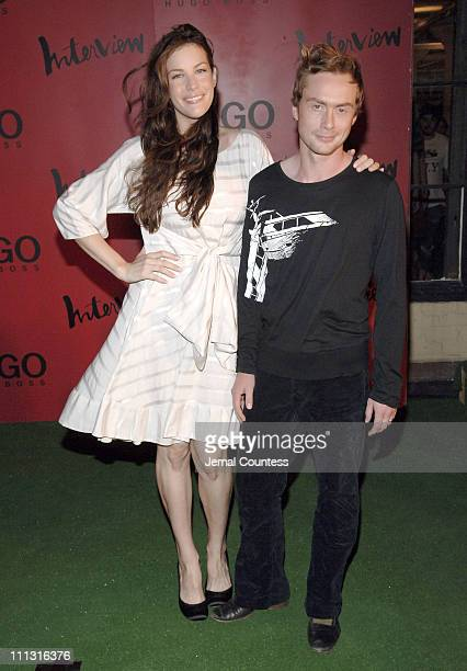 Liv Tyler with husband Royston Langdon of ArcKid during HUGO BOSS and Interview Magazine Host Private Party and Debut Concert by ArcKid at Hugo Roof...