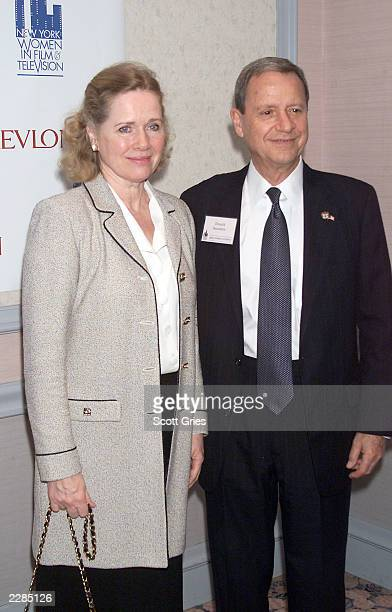 Liv Ullmann and her husband Donald Saunders at the New York Women in Film Television Gala Holiday Luncheon in New York City 12/13/01 Photo by Scott...