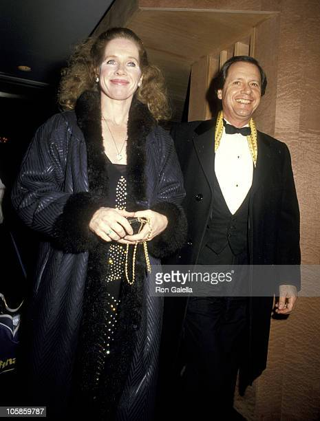 Liv Ullmann and husband Donald Saunders during America Museum of Moving Images Tribute to Elia Kazan January 19 1987 at Waldorf Hotel in New York...