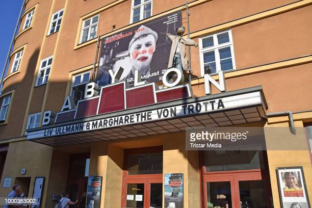 Liv Ullmann during the retrospective 'Ingmar Bergman 100' at Kino Babylon on July 16 2018 in Berlin Germany