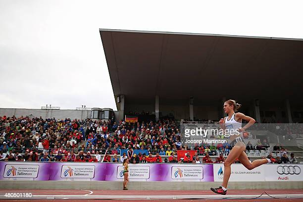 Liv Westphal of France competes in the Women's 5000m on day four of the European Athletics U23 Championships at Kadriorg Stadium on July 9, 2015 in...