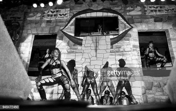 Live Crew dancers perform at the International Amphitheatre in Chicago Illinois in October 1989