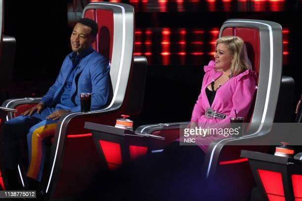 THE VOICE Live Cross Battles Episode 1612A Pictured John Legend Kelly Clarkson