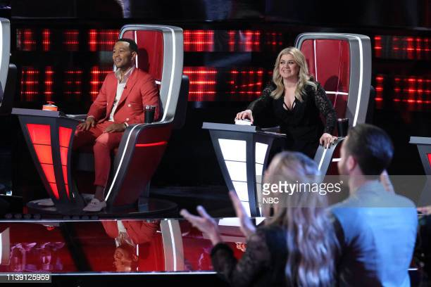 THE VOICE Live Cross Battles Results Episode 1612B Pictured John Legend Kelly Clarkson