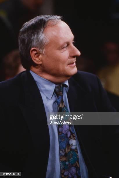 Live - die ZDF-talkshow, Talkshow, Deutschland 1992, Mitwirkende: Oskar Lafontaine.