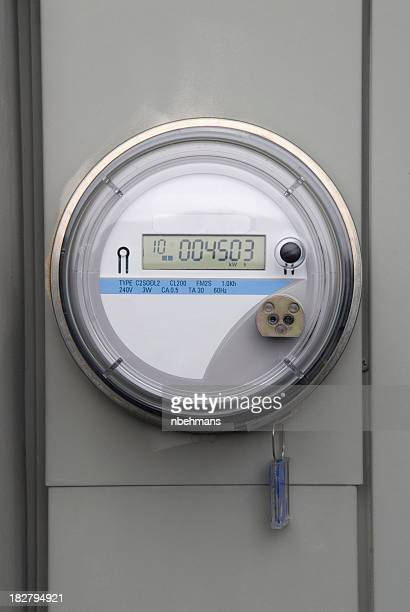 Live electric meter with visible meter reading
