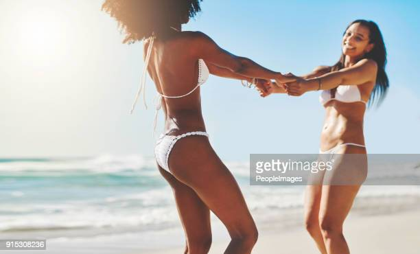 live everyday as if it were summer - light skin black woman stock photos and pictures
