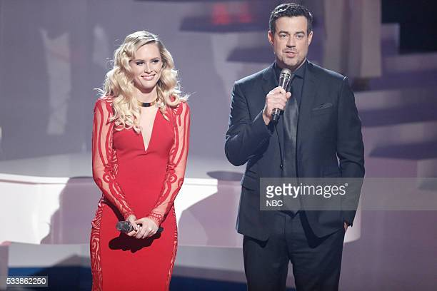 "Live Finale"" Episode 1018A -- Pictured: Hannah Huston, Carson Daly --"