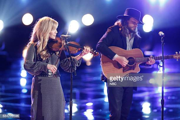 THE VOICE 'Live Finale' Episode 1018B Pictured Alison Krauss Adam Wakefield