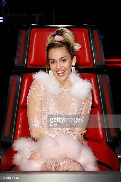 THE VOICE Live Finale Episode 1118B Pictured Miley Cyrus
