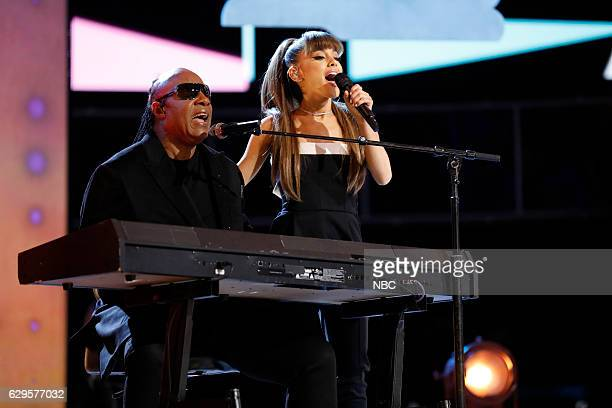 THE VOICE Live Finale Episode 1118B Pictured Stevie Wonder Ariana Grande
