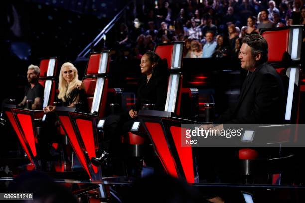 THE VOICE 'Live Finale' Episode 1219A Pictured Adam Levine Gwen Stefani Alicia Keys Blake Shelton