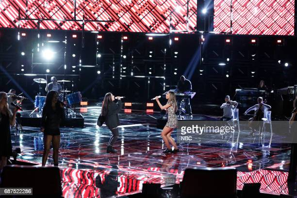 """THE VOICE 'Live Finale"""" Episode 1219B Pictured Alessia Cara Aliyah Moulden"""