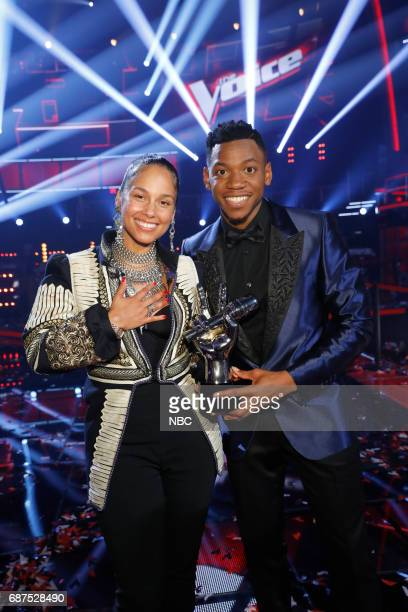 THE VOICE 'Live Finale' Episode 1219B Pictured Alicia Keys Chris Blue