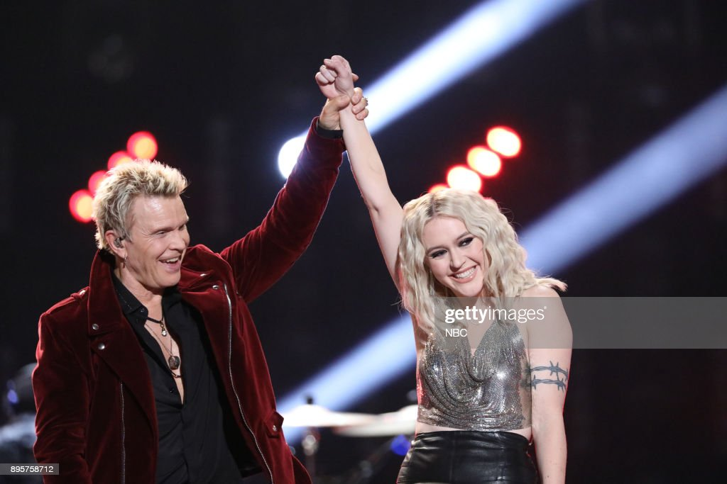 THE VOICE -- 'Live Finale' Episode 1321B -- Pictured: (l-r) Billy Idol, Chloe Kohanski --