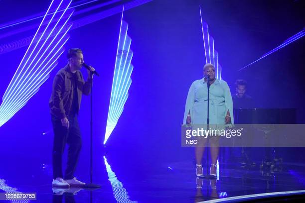 "Live Finale"" Episode 1524 -- Pictured: OneRepublic, Cristina Rae --"