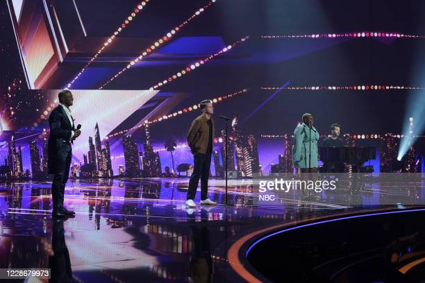 "Live Finale"" Episode 1524 -- Pictured: Terry Crews, OneRepublic, Cristina Rae --"