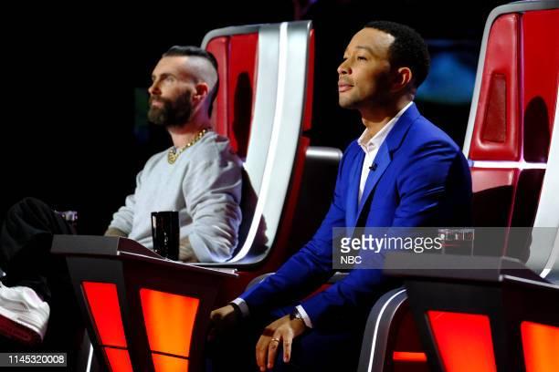 """Live Finale"""" Episode 1616A -- Pictured: Adam Levine, John Legend --"""