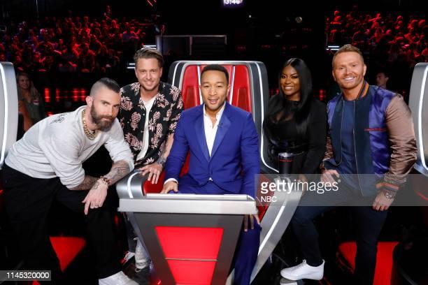 "Live Finale"" Episode 1616A -- Pictured: Adam Levine, Ryan Tedder, John Legend, Ester Dean, Shane McAnally ""Songland"" --"