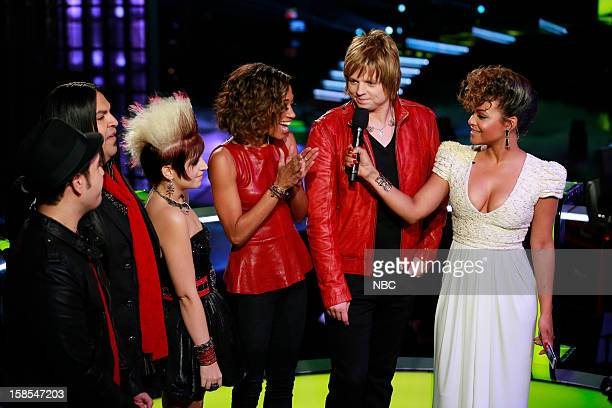 THE VOICE 'Live Finale' Episode 323B Pictured Bryan Keith Rudy Parris Michaela Paige Amanda Brown Terry McDermott Christina Milian